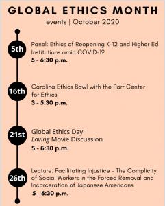 Global Ethics Month 2020 Timeline