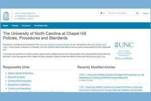 UNC Policy Website